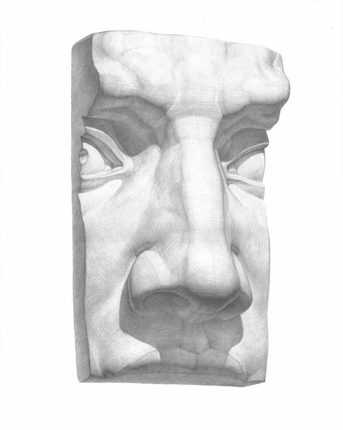 Мастер класс по рисованию гипсовых голов
