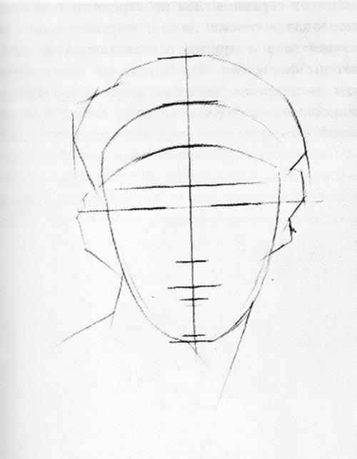 Рисование гипсовой головы