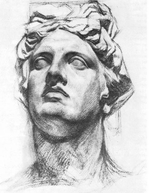В. Е. Савинский. Голова Аполлона. 1880-е гг.